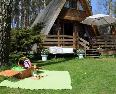Usedom / Zinnowitz - idyllisch gelegene Finnhütte