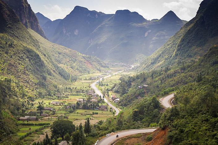 Vietnam Tal Berge Fluss